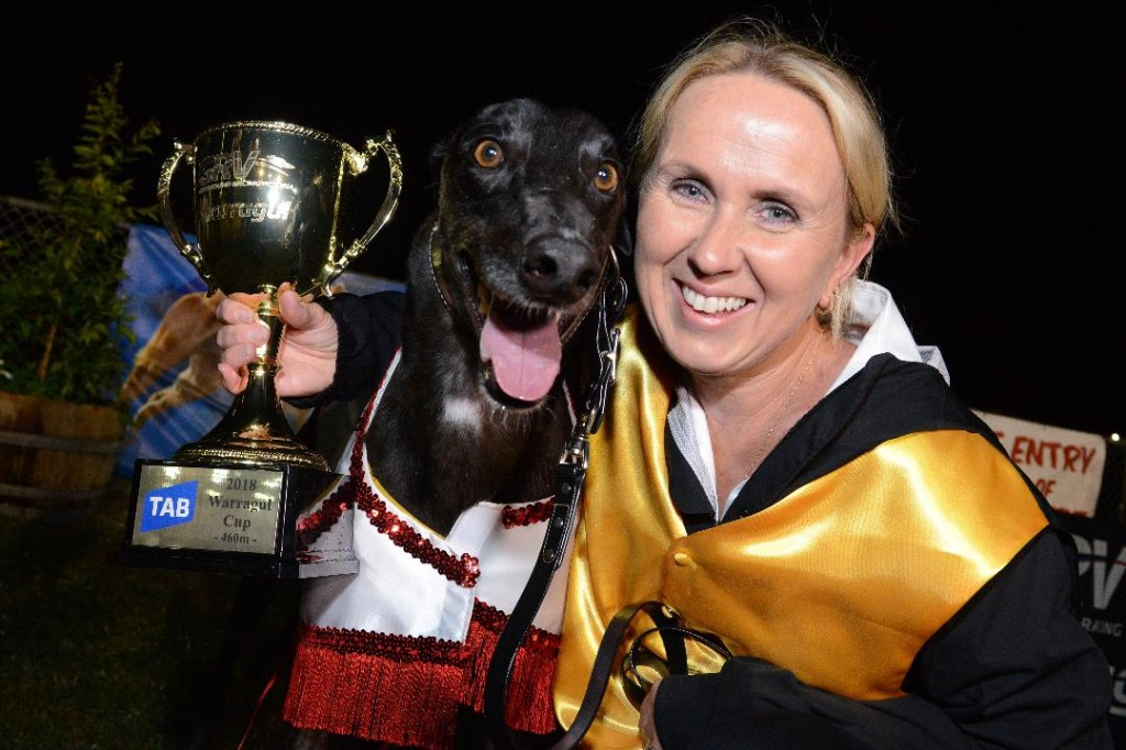Aston Dee Bee with the 2018 TAB Warragul Cup.
