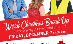 Work Christmas Break Up at the Warragul Greyhound Club